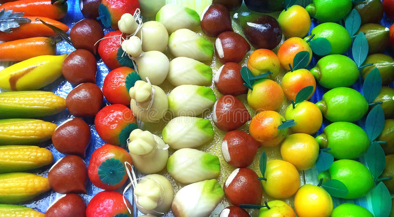 Sicilian marzipan royalty free stock images