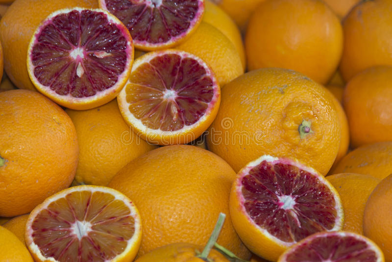 Sicilian oranges stock photos