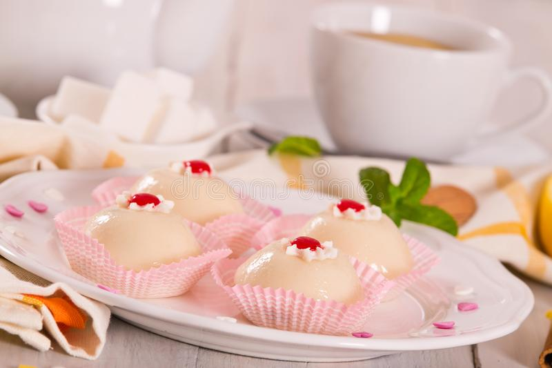 Sicilian ricotta cake Cassata. stock image