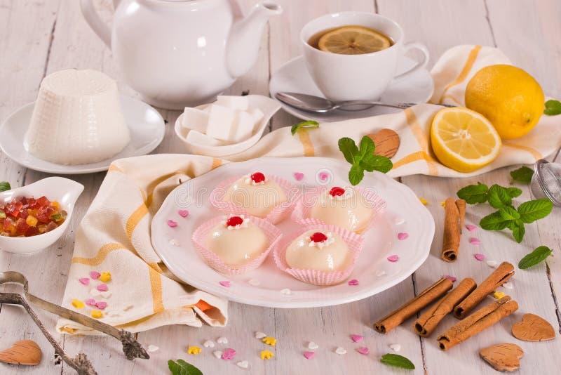 Sicilian ricotta cake Cassata. royalty free stock photos