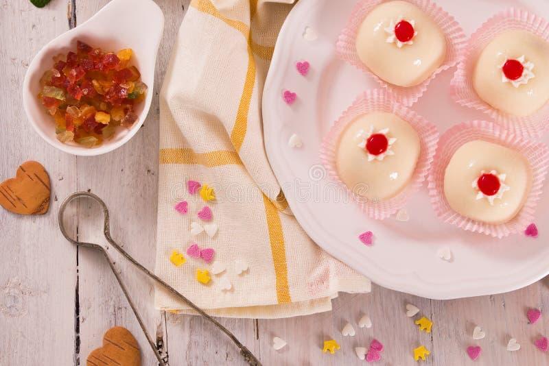 Sicilian ricotta cake Cassata. stock images