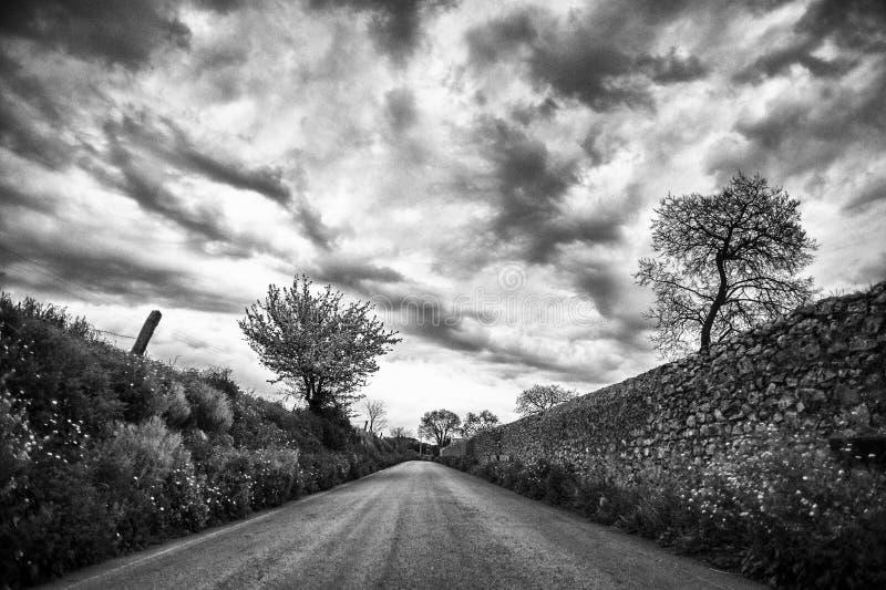 A sicilian road stock photo