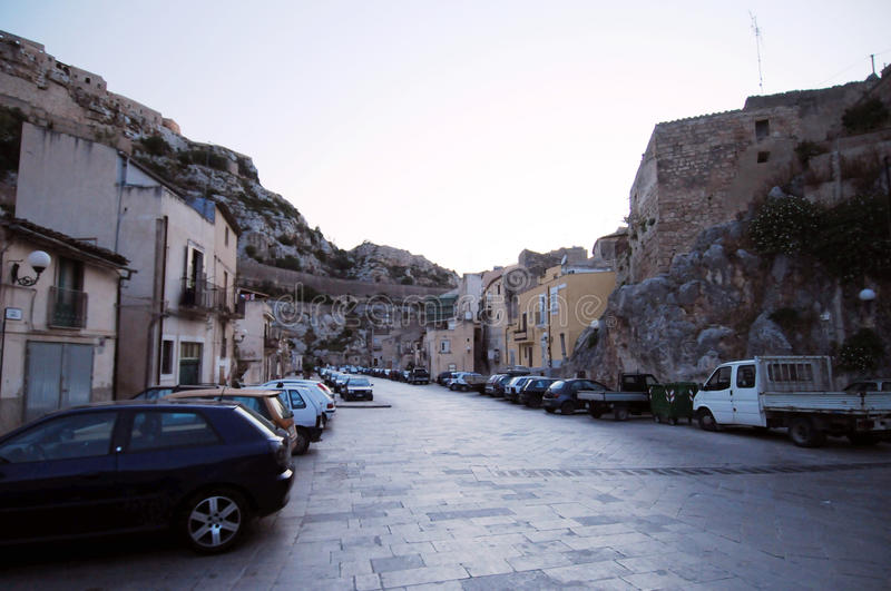 Sicilian street scene royalty free stock images