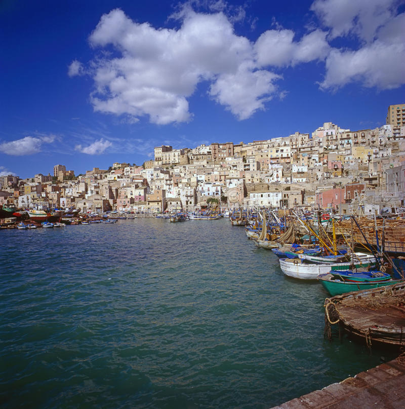 Sicilian Village stock photography