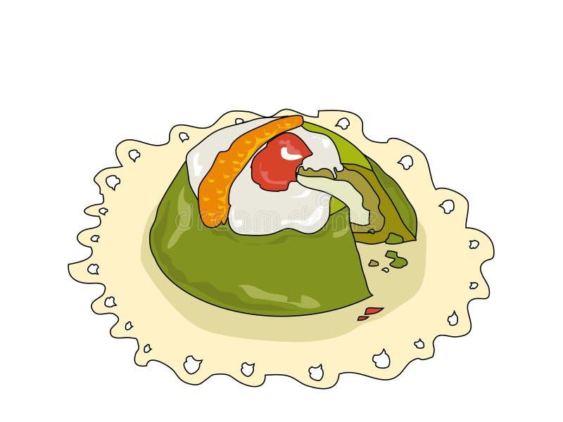 siciliana cassata иллюстрация вектора