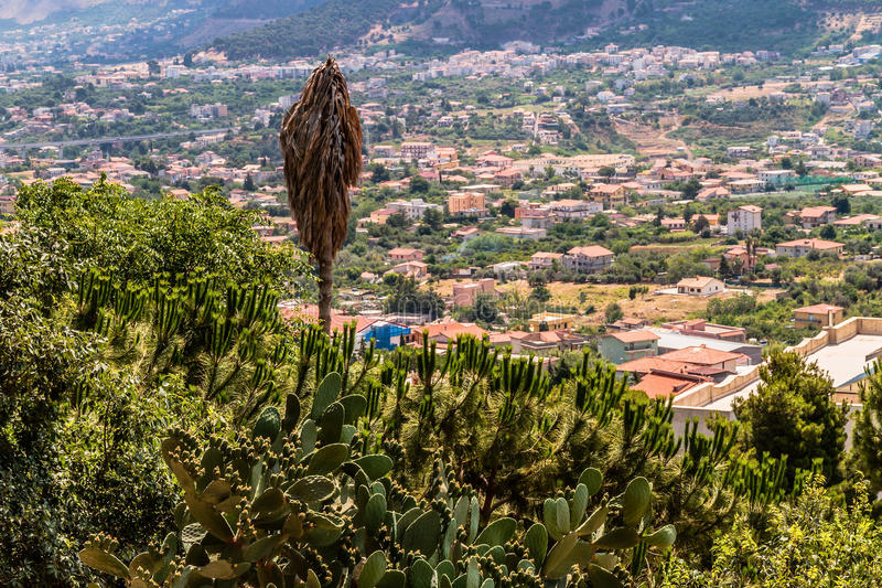 Sicilien landskap arkivfoto