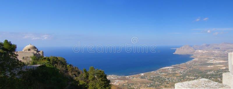 Sicily coastline panorama, Italy stock images