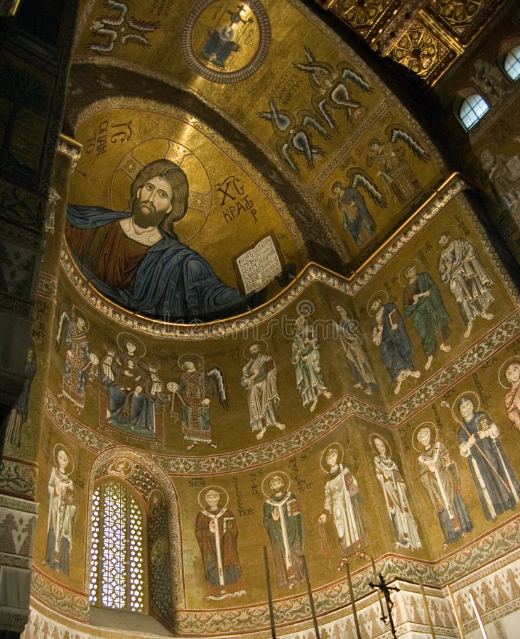 Sicily Monreale cathedral stock images