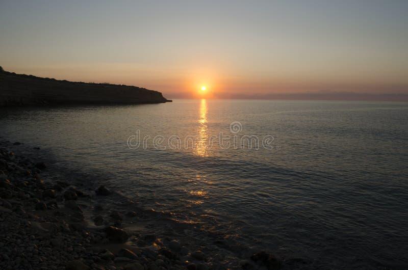 sicily wschód słońca zdjęcie stock