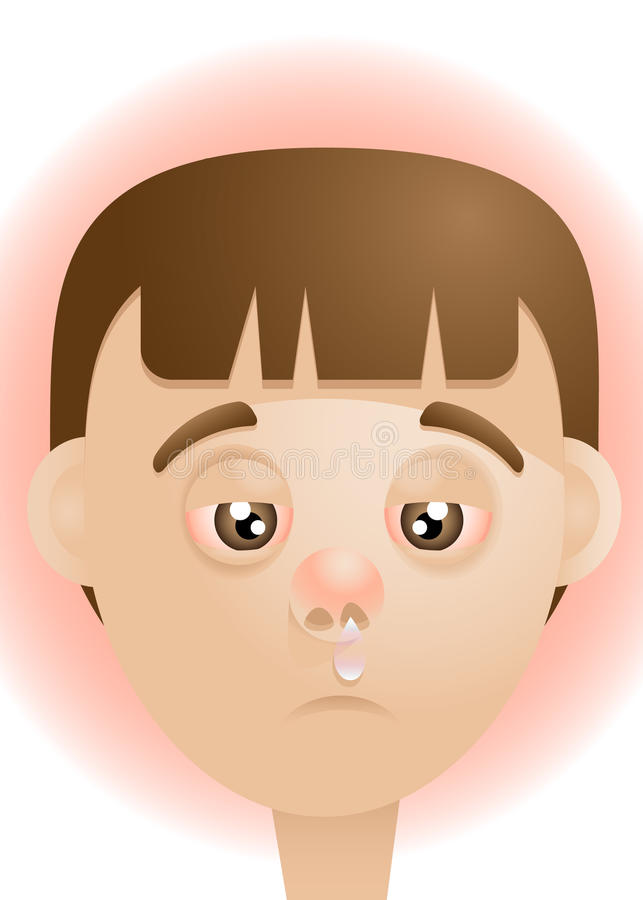 Download Sick stock vector. Illustration of child, cartoon, cold - 22453079