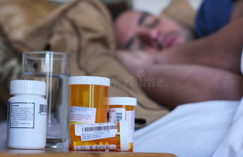 Download Sick in Bed stock image. Image of healthcare, person, treatment - 7694873