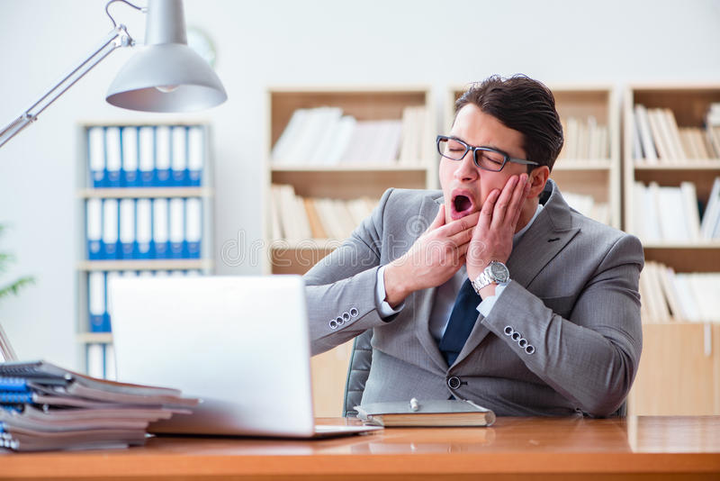 The sick businessman in the office. Sick businessman in the office stock image