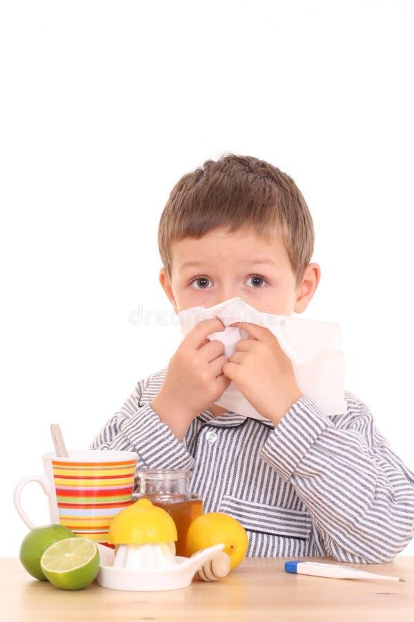 Sick child stock photos