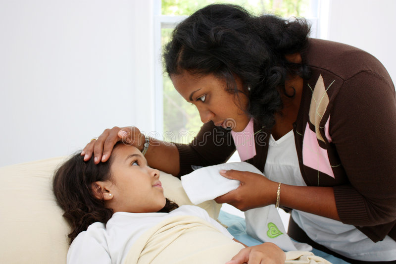Download Sick Child stock photo. Image of african, nursing, fever - 5181290