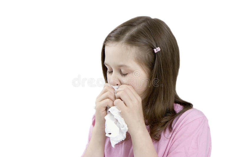 Download The Sick Child With A Handkerchief Stock Image - Image: 12054567