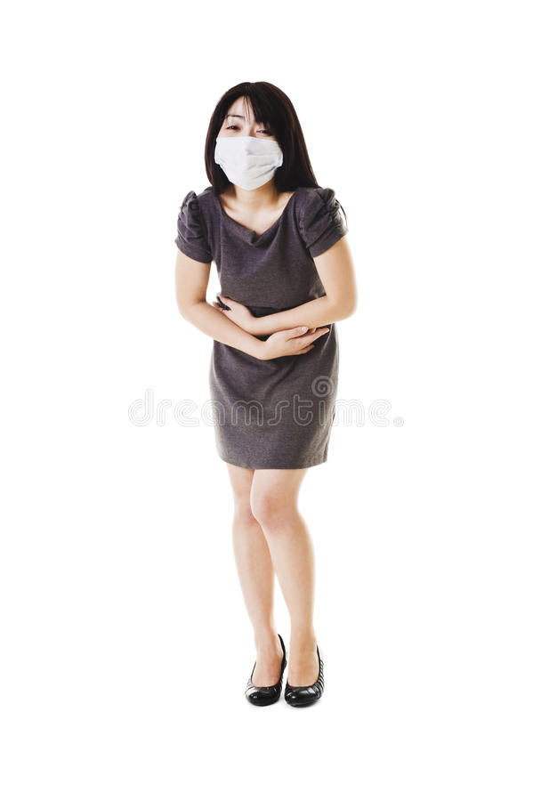 Download Sick Chinese woman. stock photo. Image of east, color - 22072542