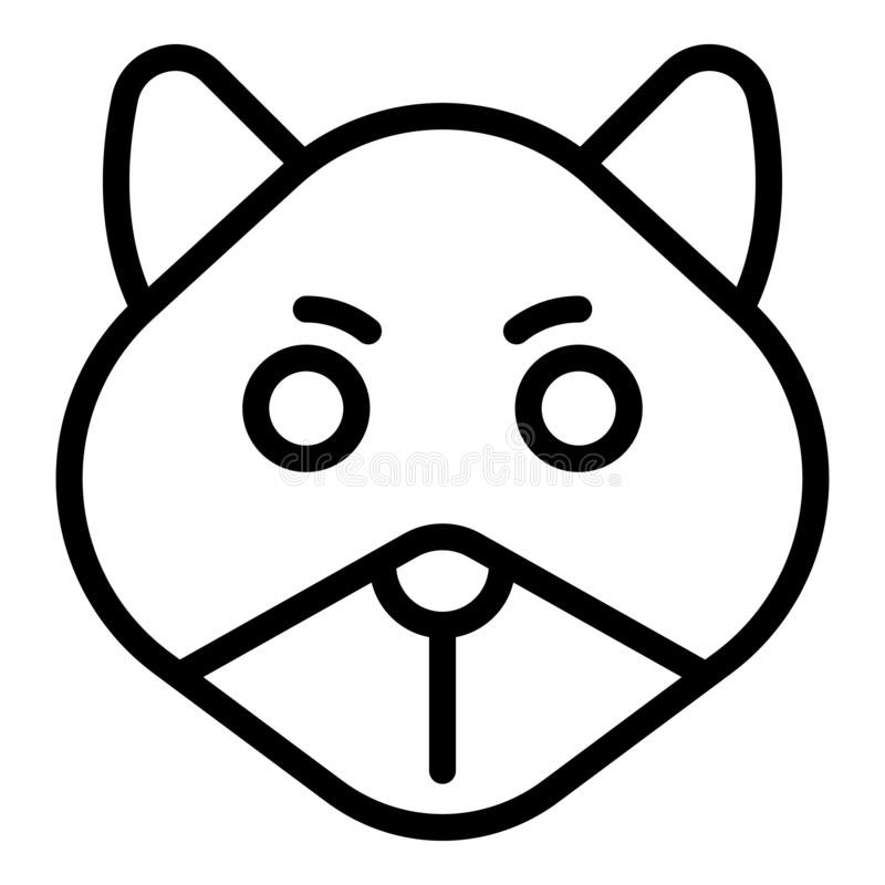 Sick chipmunk icon, outline style royalty free illustration