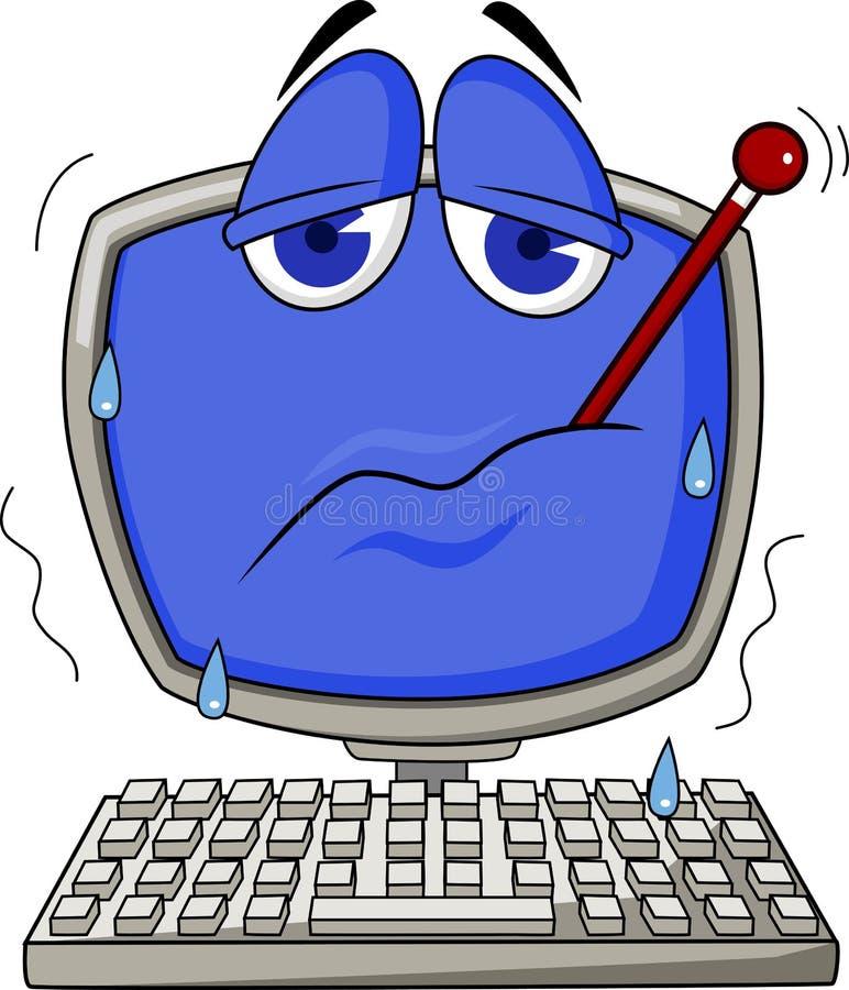 Download Sick computer stock vector. Image of problems, virus - 22781580