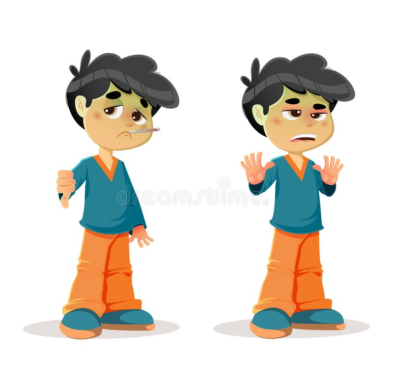Sick Disgusted Young Boy Expressions stock photography