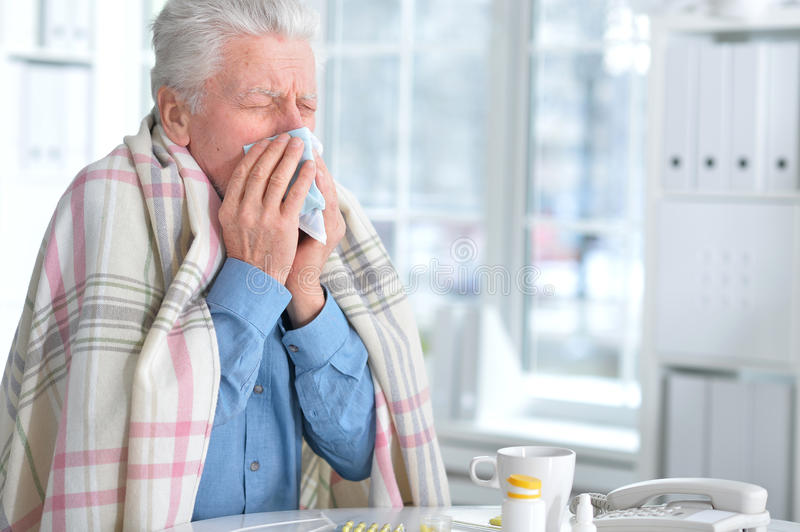 Download Sick Elderly Man With Pills Stock Image - Image of alzheimers, confused: 87871977