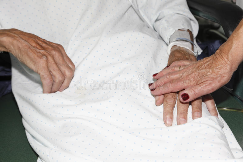 Sick Elderly. royalty free stock photos