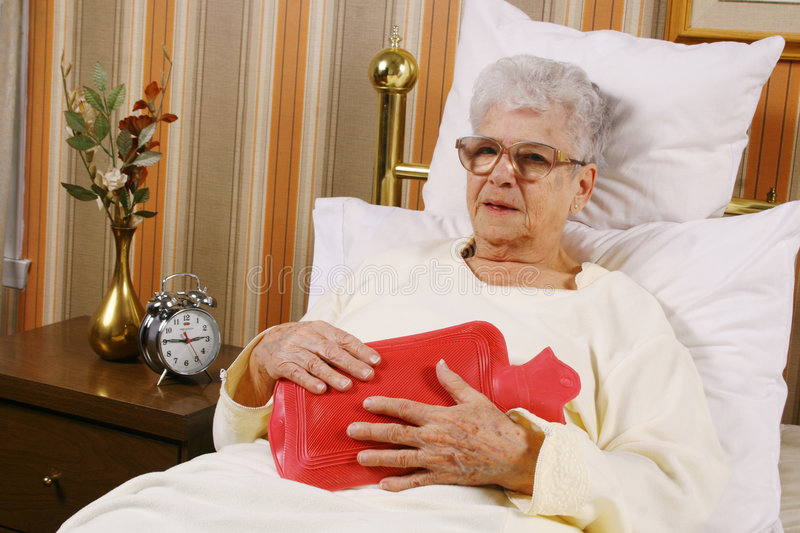 Download Sick Elderly Woman Have A Belly Pain Stock Image - Image of rubber, interior: 4133671