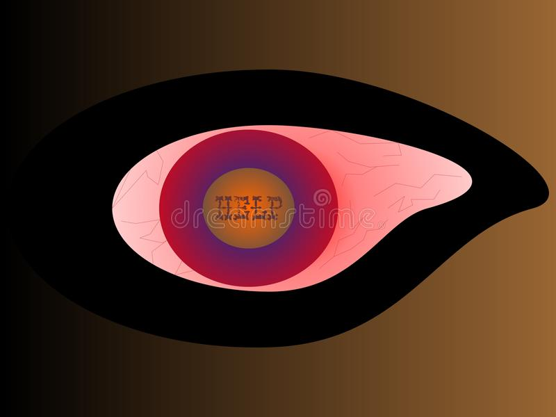 A SICK EYE royalty free stock photography