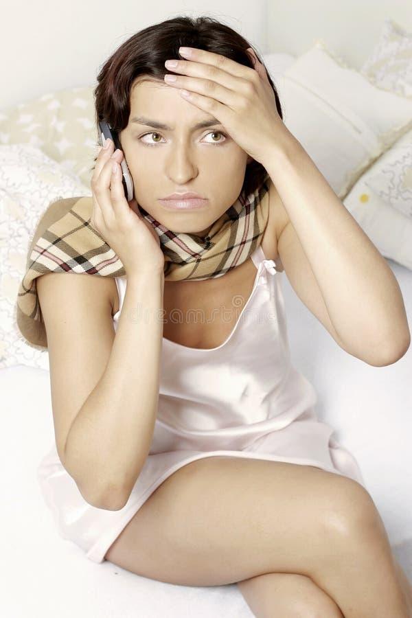 Sick girl stock image
