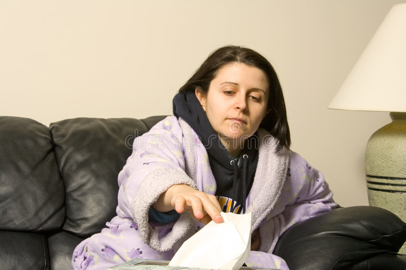 Download Sick girl stock image. Image of lady, allergy, congestion - 1758453