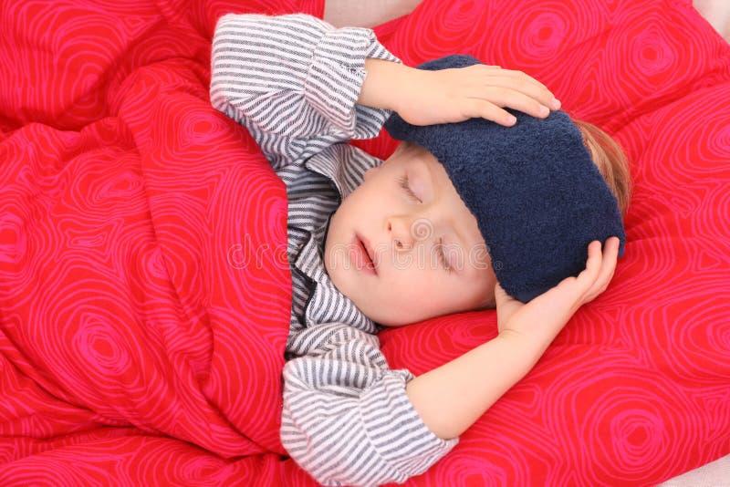 Download Sick kid stock photo. Image of pajamas, pyjamas, season - 3506798