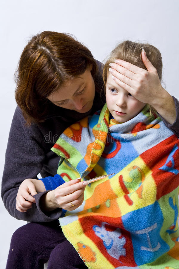 Download Sick little girl stock photo. Image of mother, childcare - 13809834