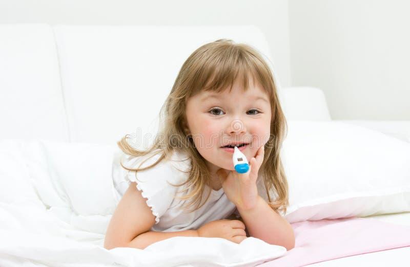 Sick little girl royalty free stock photos