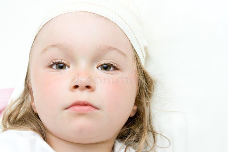 Sick little girl stock image