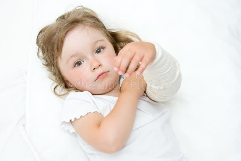 Sick little girl stock photos