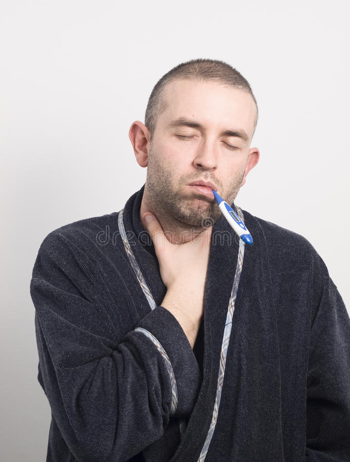 Download Sick Man With His Eyes Closed Stock Photo - Image: 24687214