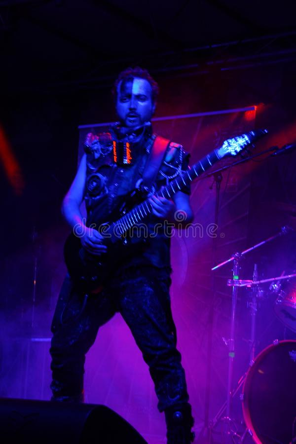 Sick N `Beautiful concert. SICK N` BEAUTIFUL is a gang of rockin` freakshow pirates from outer space! Industrial hard rock with a jolt of metal and electropop royalty free stock photography