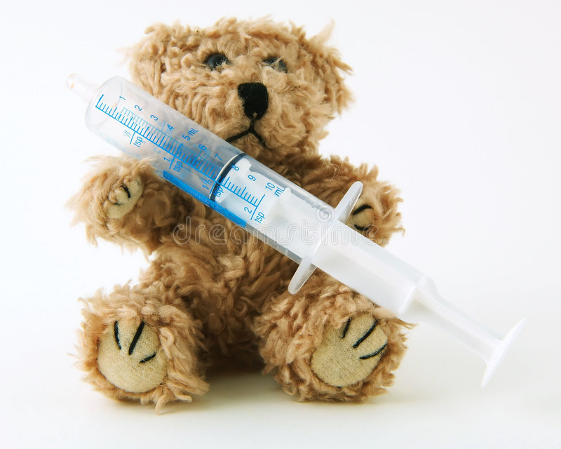 Download Sick Teddy stock photo. Image of bear, toddler, insurance - 93906