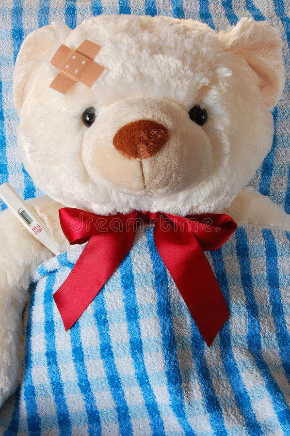 Download Sick Teddy Royalty Free Stock Photo - Image: 9738385
