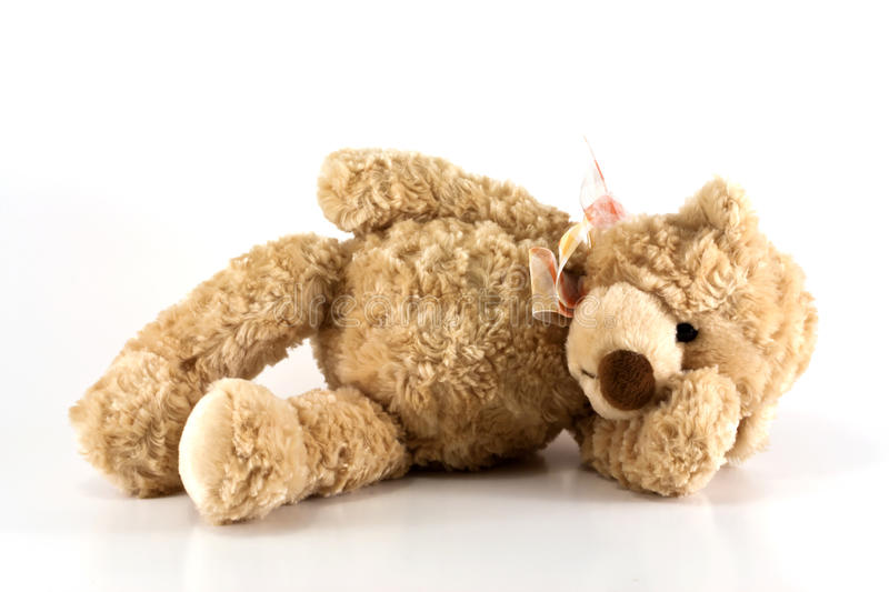 Sick teddy bear royalty free stock images