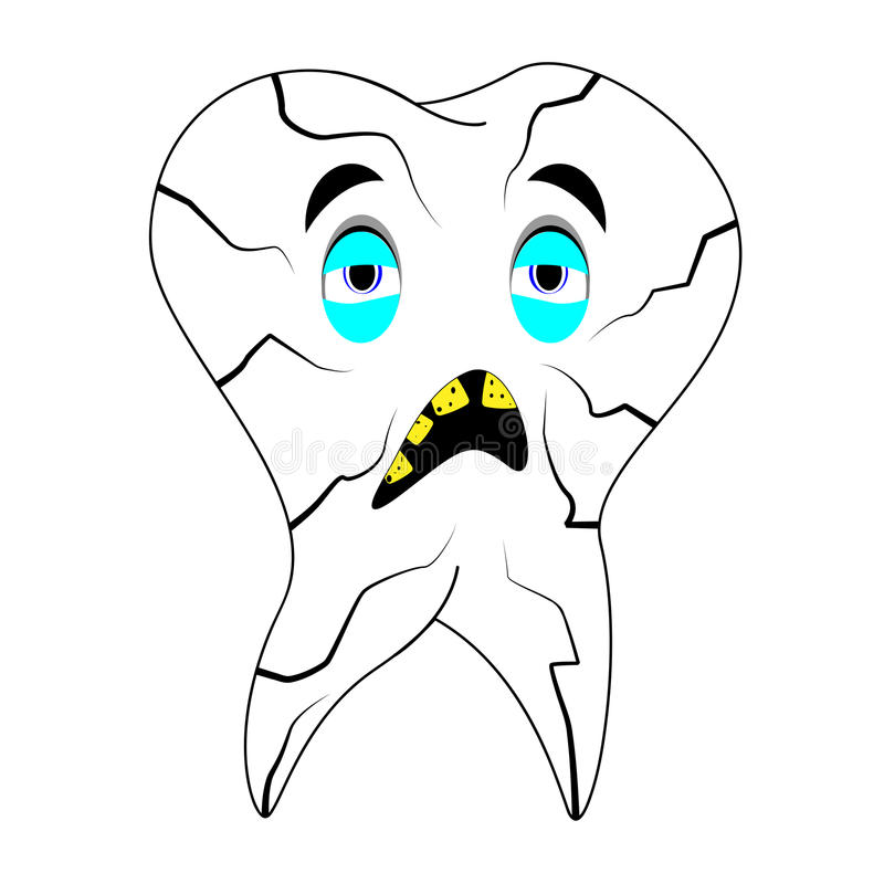 Sick Teeth Royalty Free Stock Images