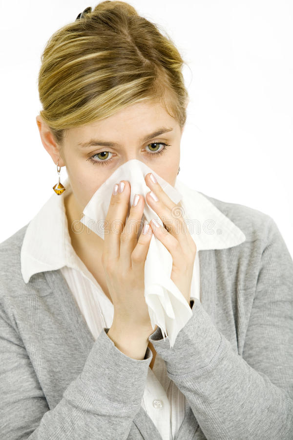 Download Sick woman stock photo. Image of blow, face, allergic - 18865036