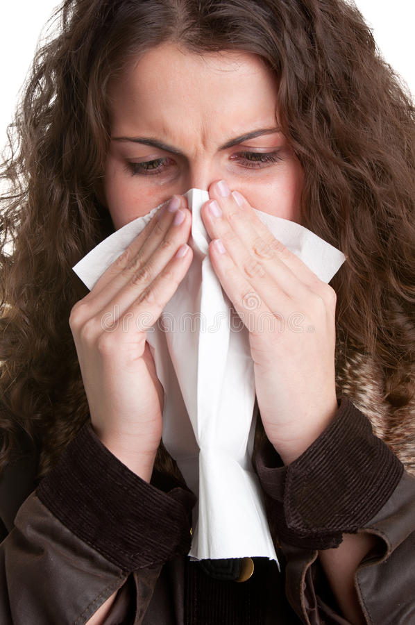Download Sick Woman Sneezing stock photo. Image of coughing, pollen - 30588448