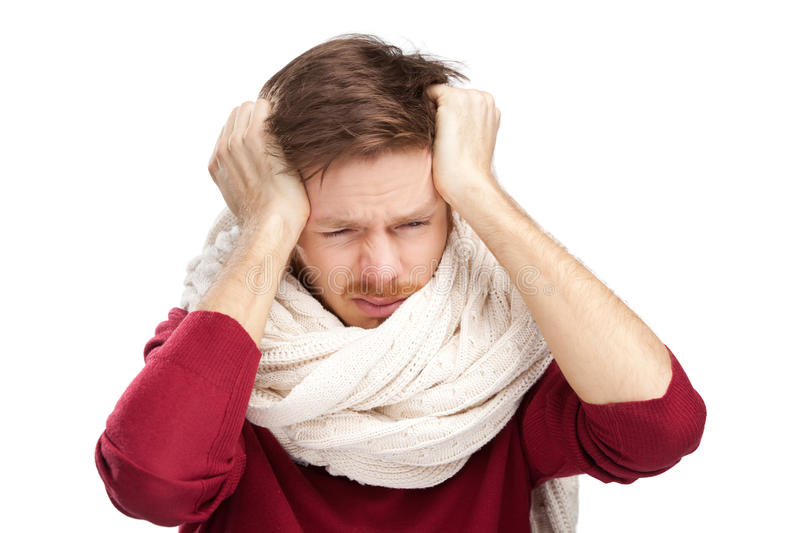 Download Sick Young Man With A Headache Stock Image - Image: 25803779