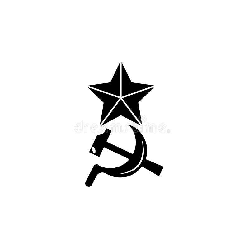 Star, Hammer And Sickle, Symbols Of USSR Stock