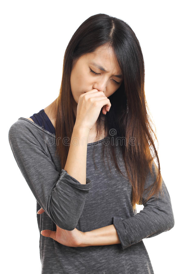 Download Sickness girl stock image. Image of isolated, troubled - 30809357