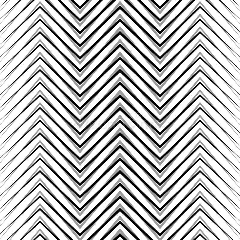 Sicksack korrugerade göra ett hack i linjer Dynamiskt irregularband royaltyfri illustrationer