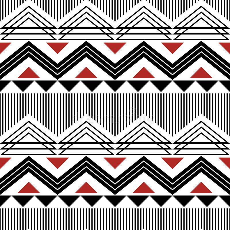 Sicksackar linjer, sömlös modern geometrisk modell för trianglar stock illustrationer