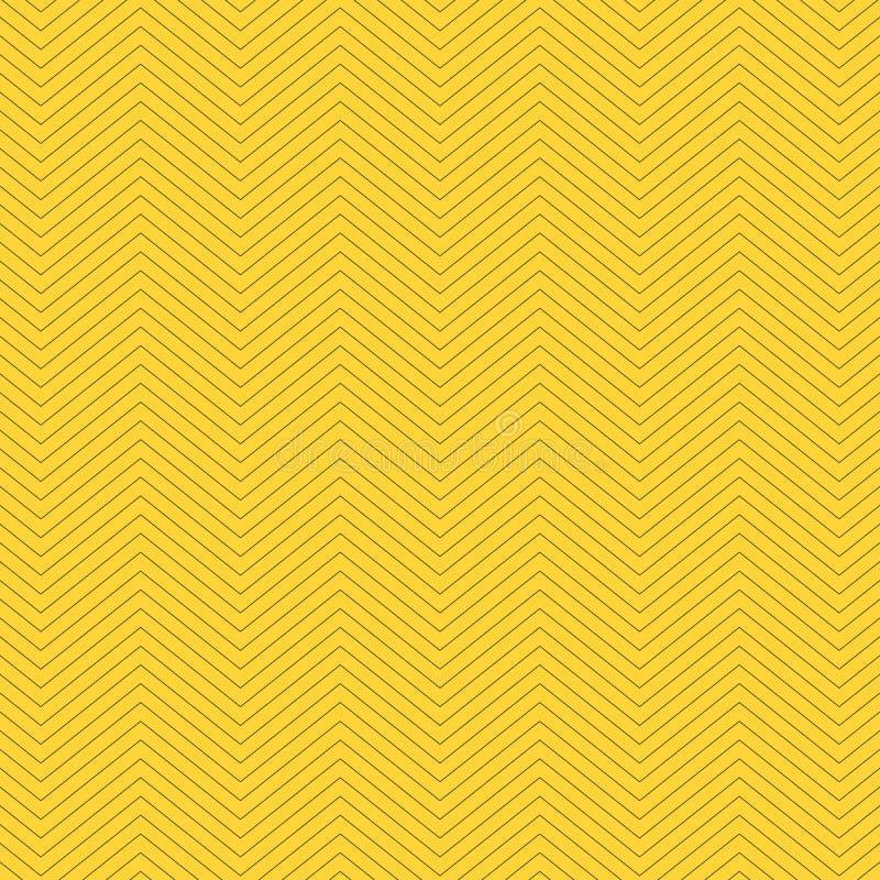 Sicksacken texturerade gul bakgrundsdesign S?ml?s modell f?r enkel sparre Mall f?r tryck, inpackningspapper, tyger, r?kningar, royaltyfri illustrationer