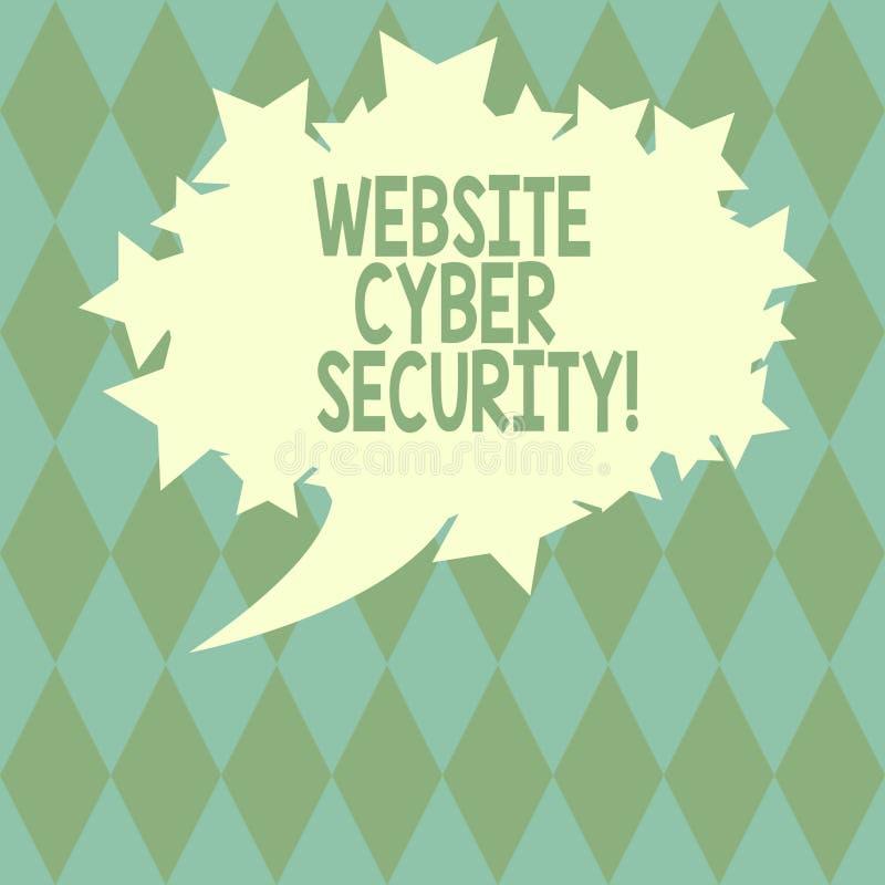 Sicurezza cyber del sito Web di scrittura del testo della scrittura Il computer proteggente o i dati di significato di concetto d illustrazione di stock