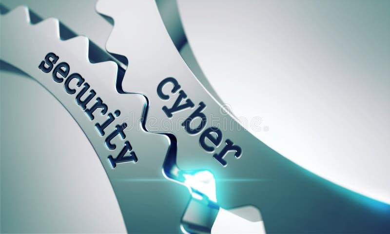Sicurezza cyber sugli ingranaggi fotografia stock